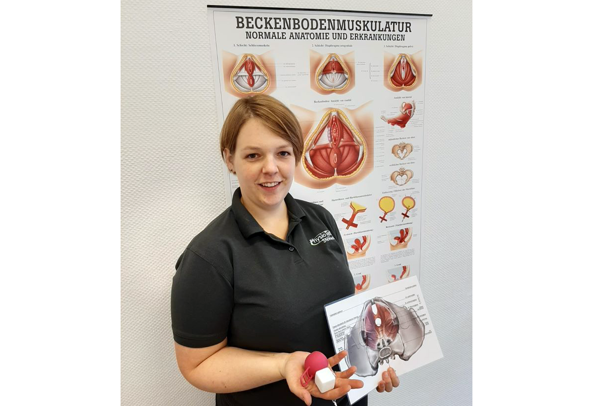 Beckenbodengymnastik in Witten mit Physiotherapeutin Angelina Steinecke.